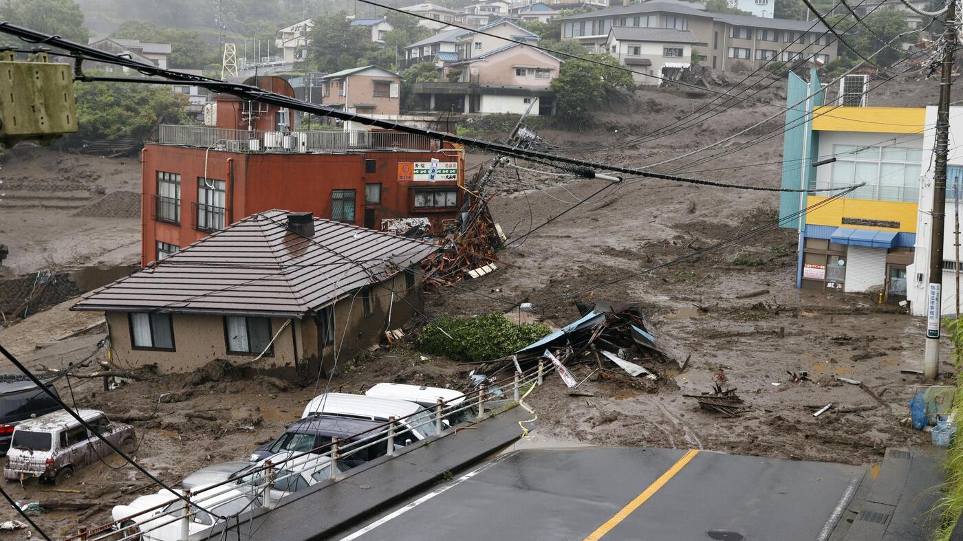 Japan mudslide buries houses, leaving several people missing: NPR