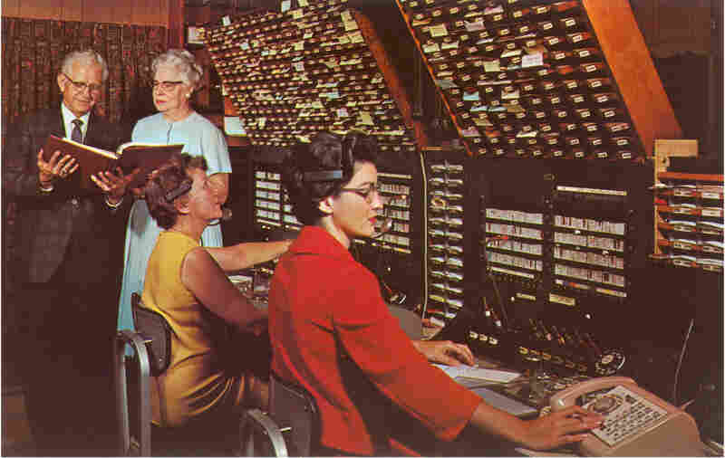 Televangelist switchboard in the 1960's.