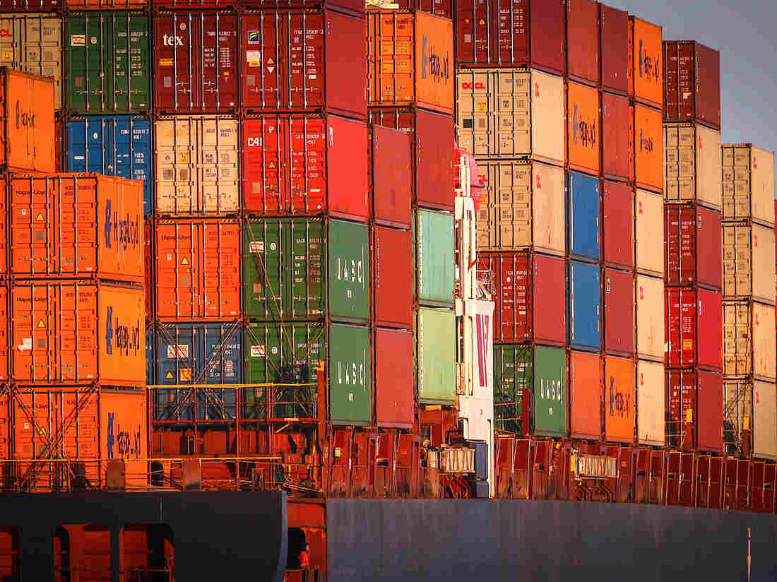 Shipping containers on a ship at Port Botany in Sydney, New South Wales, Australia, on Monday, May 31, 2021. Photographer: David Gray/Bloomberg via Getty Images