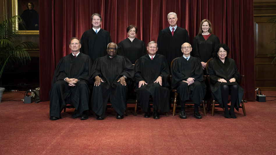 Since John Roberts became chief justice in 2005, the Supreme Court has on average decided just under 10% of its cases by polarized 5-4 votes. This term, that percentage went up, with the court's new conservative supermajority winning 15% of cases by a polarized vote of 6-3, plus an additional 4% decided by a conservative 5-4 majority. (Erin Schaff/AP)