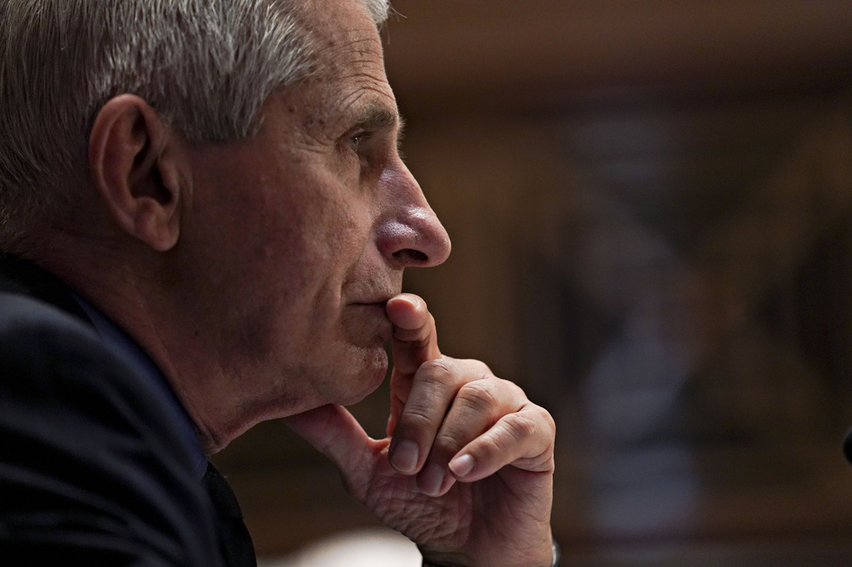 Dr. Anthony Fauci attends a Senate Appropriations Subcommittee hearing in May on Capitol Hill. Fauci says he rarely wears a mask anymore since his environment is usually restricted to vaccinated people. (Stefani Reynolds/Pool/Getty Images)