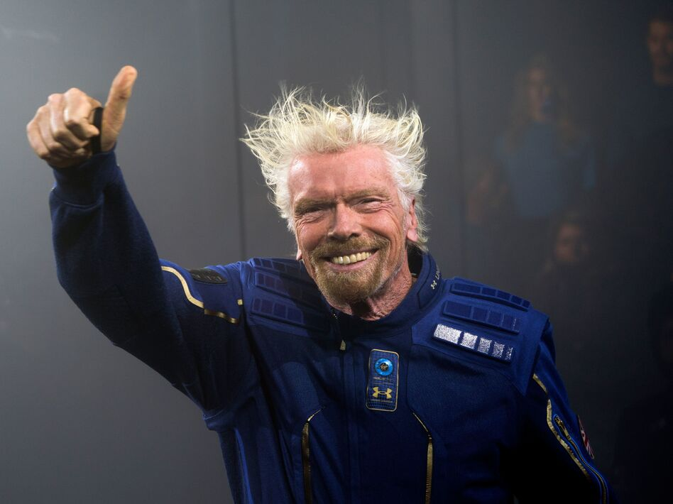 Richard Branson, seen here in 2019, will head to space on his company Virgin Galactic's Unity 22 mission. (Don Emmert/AFP via Getty Images)