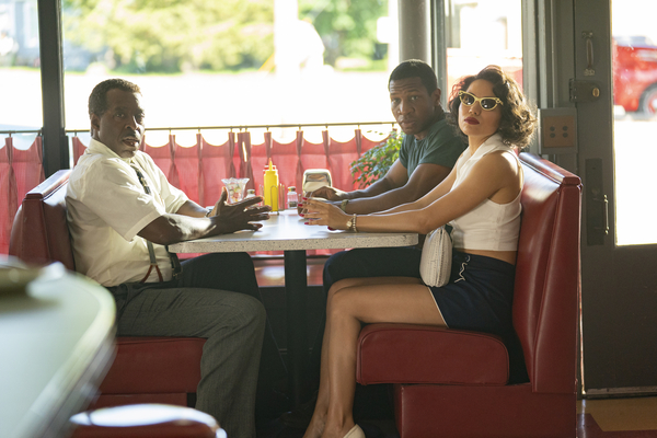 Courtney B. Vance, Jonathan Majors and Jurnee Smollett in Lovecraft Country, which was nominated for Outstanding drama series.