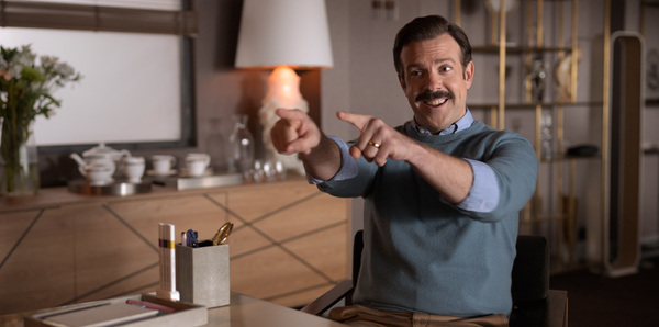Jason Sudeikis in Ted Lasso, nominated for Outstanding Comedy Series.