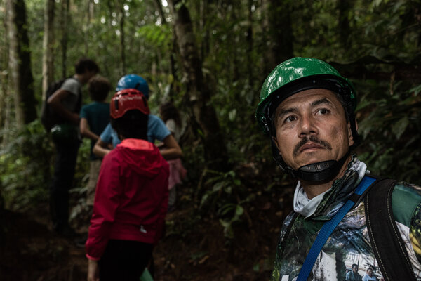 Edinson Castro, an ex-FARC rebel, is now a guide for tourists in the jungle.