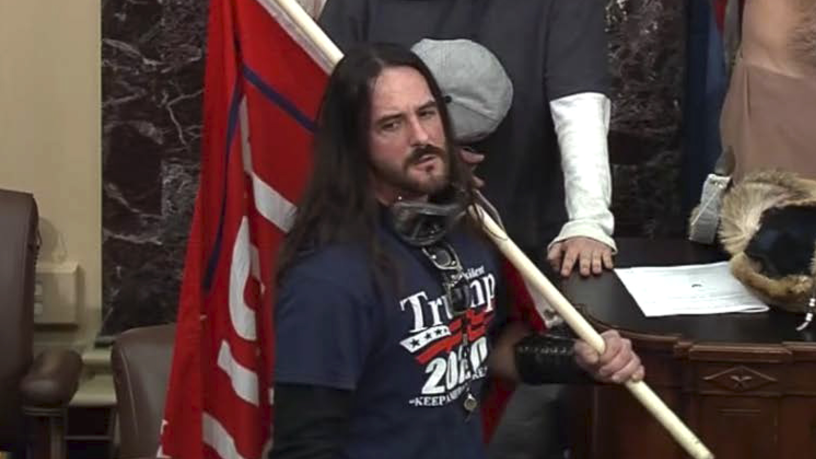 Capitol Rioter Who Walked On Senate Floor On Jan. 6 Sentenced To 8 Months In Prison
