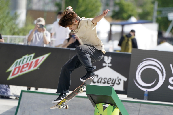 Japan's Yuto Horigome, shown here during a skateboarding competition in May, is a medal contender in the sport's Olympic debut.