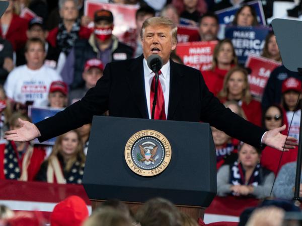 President Donald Trump speaks during a rally in Valdosta, Ga., on Dec. 5, 2020.