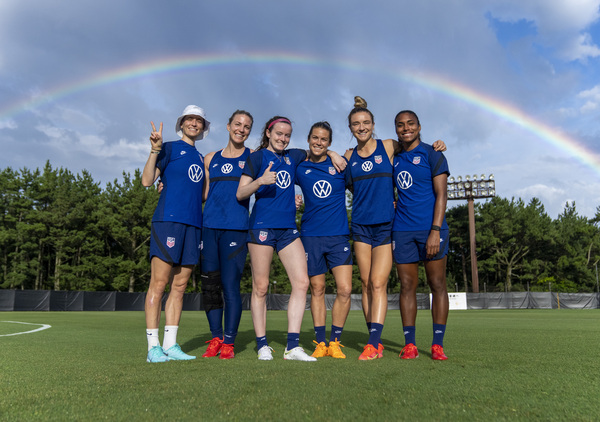 Members of the U.S. women's soccer team during a training session this month in Miyazaki, Japan.