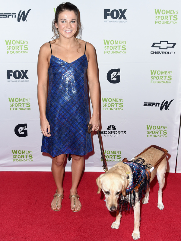Swimmer Becca Meyers says she's skipping the Tokyo Paralympics because she wouldn't be able to have a personal care assistant with her. The 2016 gold medalist is seen here at an event in 2017.
