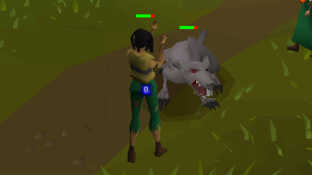 Amanda Aronczyk fights a giant rat while playing Old School RuneScape.