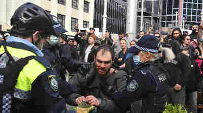Thousands Of People Protest Coronavirus Lockdowns In Australia