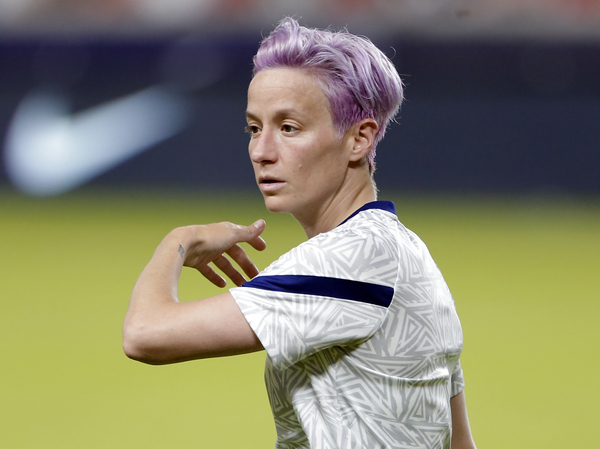 """Megan Rapinoe says she uses a variety of CBD products as part of her """"all-natural recovery system"""" that has become part of a daily routine."""