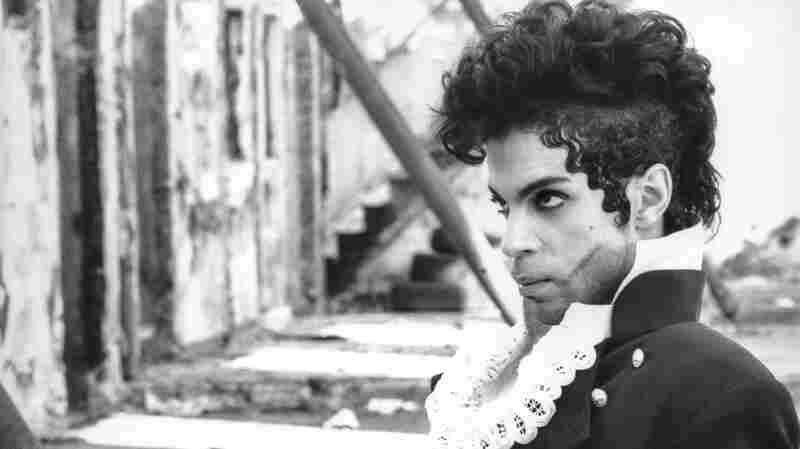 Prince at the burned-out building he and Randee St. Nicholas found in the mid-1990s in Hollywood.