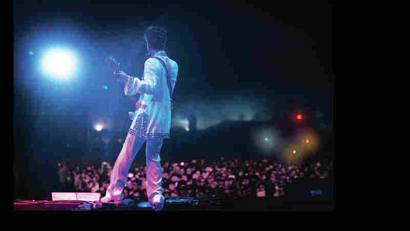 Prince performs at the Coachella Music And Arts Festival in April 2008.