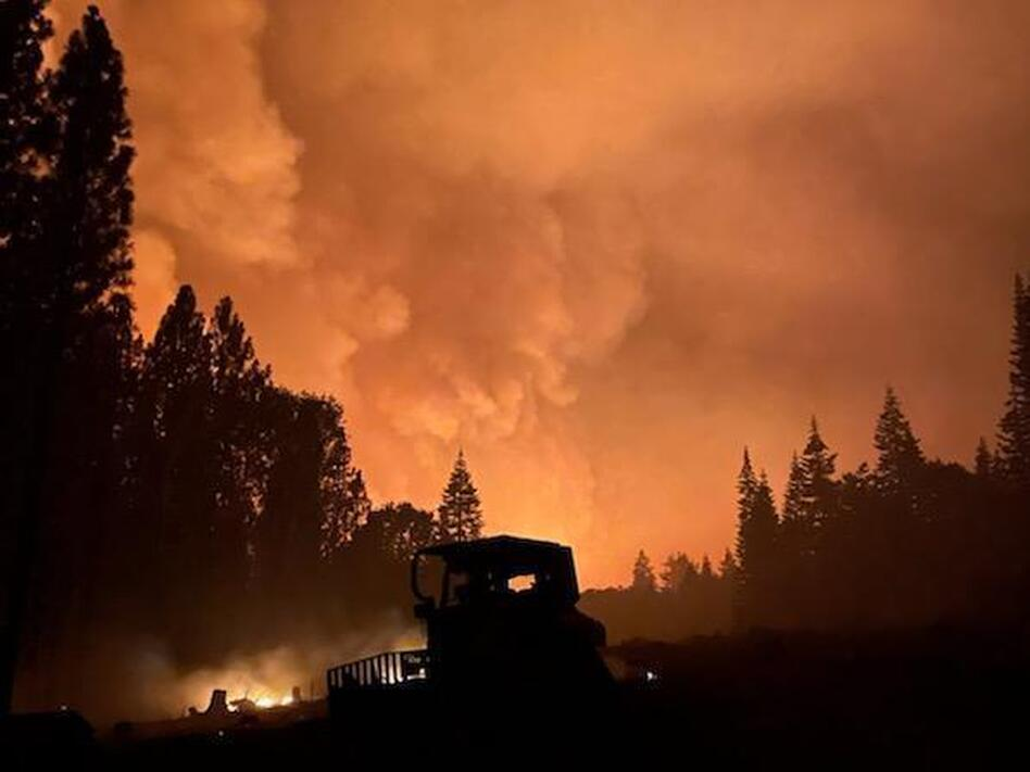 The Dixie Fire in Northern California is about the size of San Diego and has more than 5,800 workers on scene. It's the second-largest active fire in the country as of Saturday. (U.S. Forest Service)