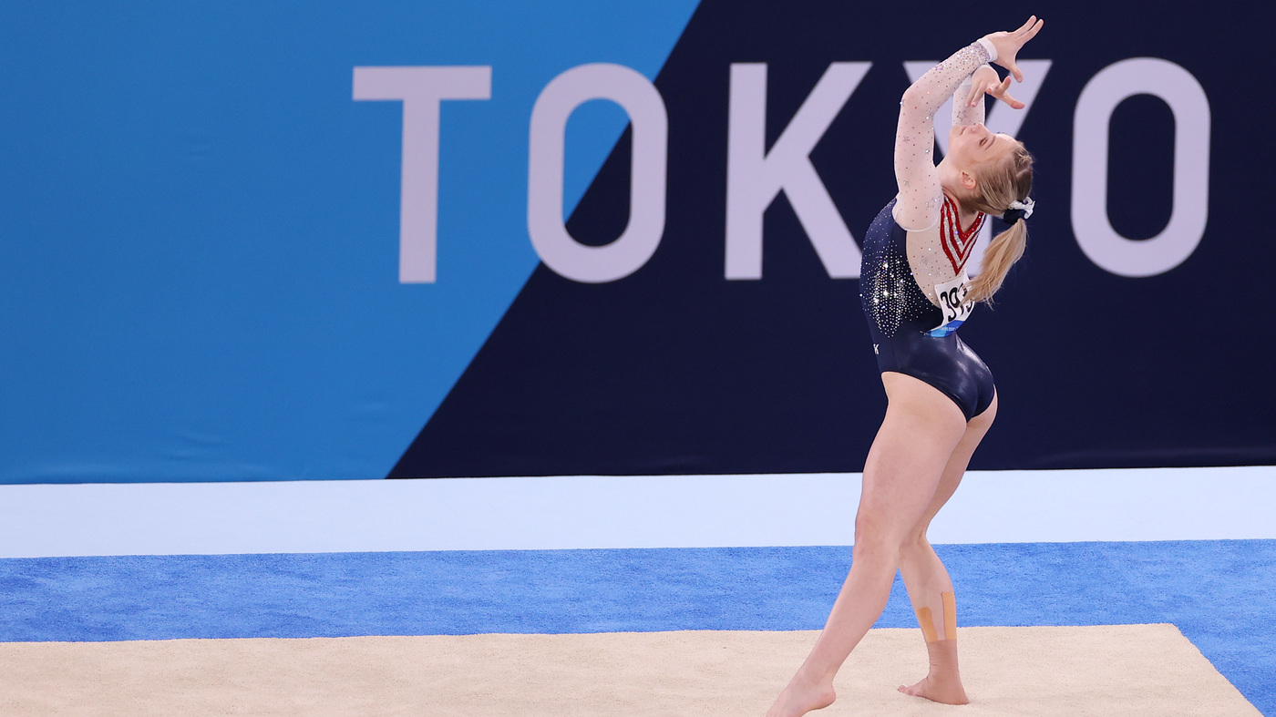 U.S. Gymnast Jade Carey Takes Gold In The Olympic Floor Exercise Final