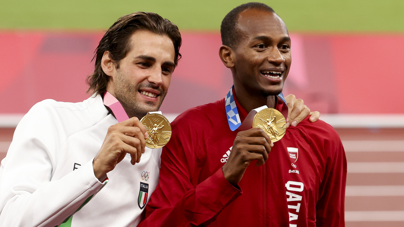 Mutaz Essa Barshim And Gianmarco Tamberi Share The Gold Medal In Olympic High Jump