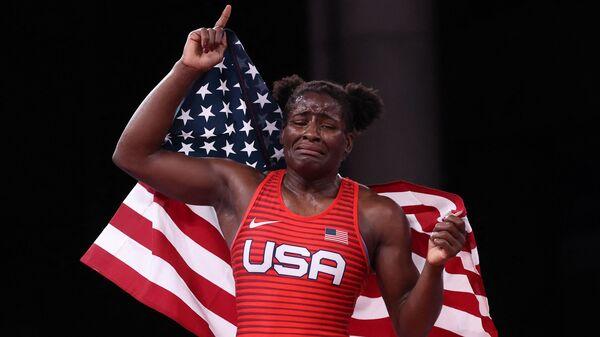 Tamyra Mensah-Stock Becomes 1st U.S. Black Woman To Win Wrestling Gold