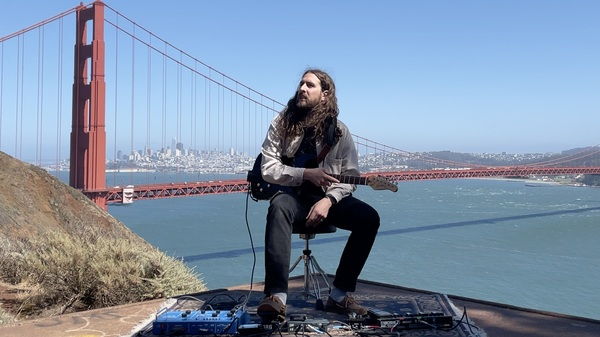 Nate Mercereau decided to make music using the sound of wind traveling through the Golden Gate Bridge.