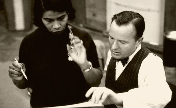 Marian Anderson with her accompanist and friend Franz Rupp. The two began performing together in October 1940 and remained together for the rest of her career. Rupp's wife Steffi, a singer, became a good friend and vocal coach of Anderson.