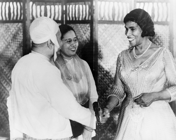 Marian Anderson with U Nu, the first Prime Minister of Burma, and his wife in Rangoon in 1957. For years, Marian Anderson performed abroad in hopes of overcoming the limitations of race in America.