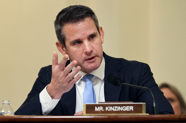 Rep. Adam Kinzinger, seen here during a July 2021 hearing, is a member of the air national guard.