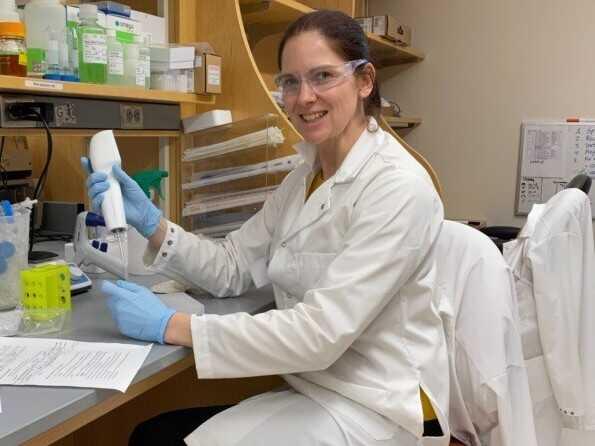 Yale researcher Anne Wyllie. Wyllie pioneered saliva coronavirus testing.