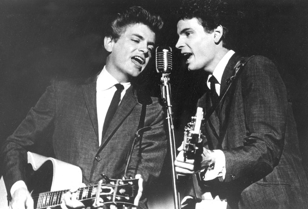 The Everly Brothers, Don (right) and Phil, perform on July 31, 1964.