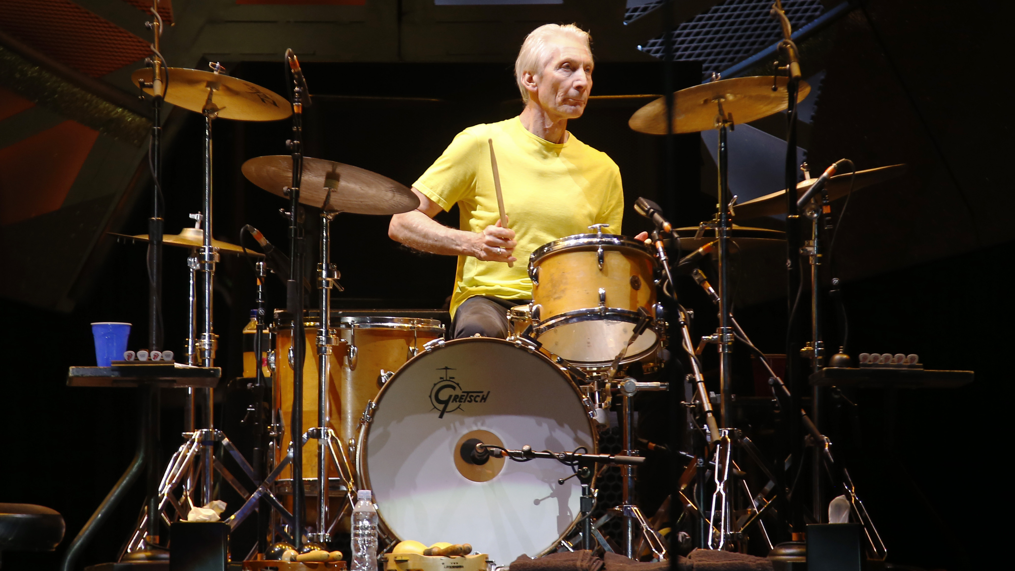 Charlie Watts performs with the Rolling Stones in 2015.