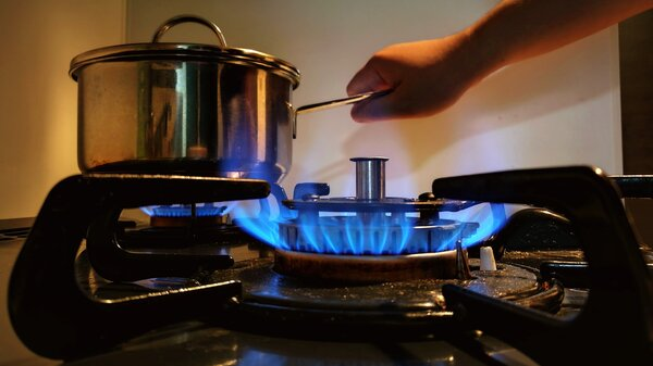 Environmental groups focused on climate change want to eliminate natural gas use in buildings, and that includes cooking with gas stoves like this one.