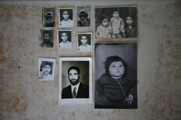 Some of the photographs that have never been collected at a photo studio in the west of Kabul.
