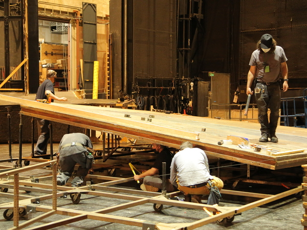 LA Opera employees have worked around the clock to complete sets for their season opener in just 10 days.