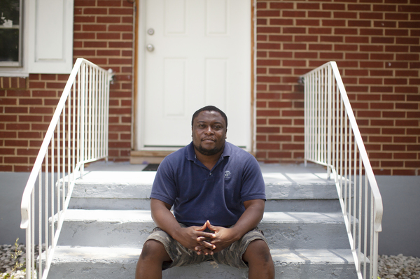 Akouete Yemey purchased his house in Roanoke, Va., from HUD. The house is located in the highest-risk flood zone. Yemey says buying directly from the government initially made him trust that the house was safe. He is considering a government buyout so his family can move to higher ground.