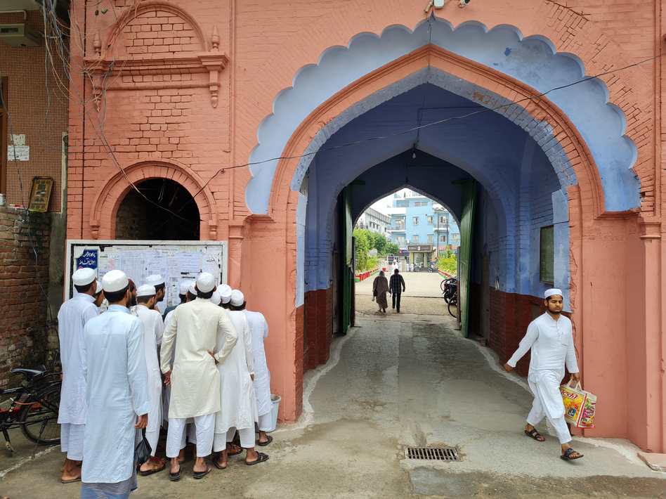 The main entrance to the campus of the Darul Uloom seminary in Deoband, India, where the Deobandi strain of Islam was founded in the 19th century. Among its more recent adherents are the Taliban. (Lauren Frayer/NPR)