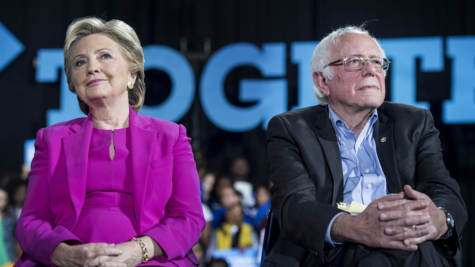 """In their Democratic presidential primary, Hillary Clinton and Bernie Sanders had a heated debate in 2016 about what """"progressive"""" means. Even now, it's not totally clear. (Melina Mara/The Washington Post via Getty Images)"""