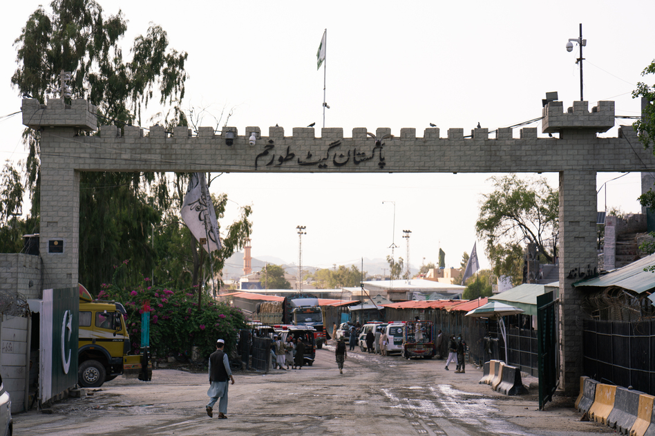 A gate at the Torkham border crossing.