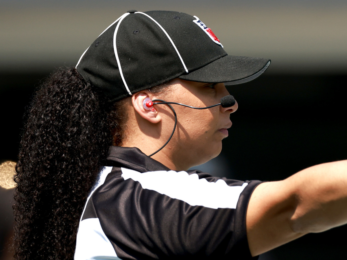 Maia Chaka is the first black woman to officiate in an NFL game: NPR
