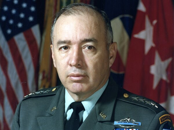 The late Gen. Richard E. Cavazos was the first Hispanic American promoted to the rank of four-star general.