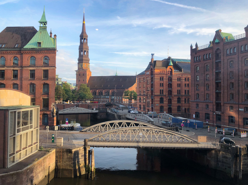 The harbor district of Hamburg is filled with new hotels and loft apartments and is crisscrossed by canals. Former Mayor Olaf Scholz helped transform this district from one of run-down warehouses into a thriving cultural district.