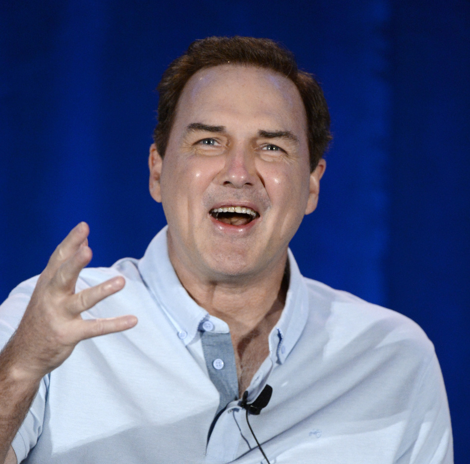 Norm Macdonald speaks during a panel discussion of reality television talent show <em>Last Comic Standing</em> in 2015. (Kevork Djansezian/Getty Images)