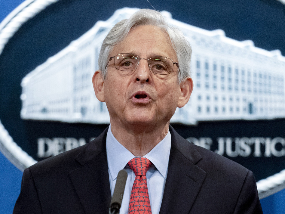 Attorney General Merrick Garland announced the Justice Department suit over Texas' abortion law last week. Now the department is asking a federal judge to temporarily block enforcement of the law while its lawsuit proceeds. (Andrew Harnik/AP)