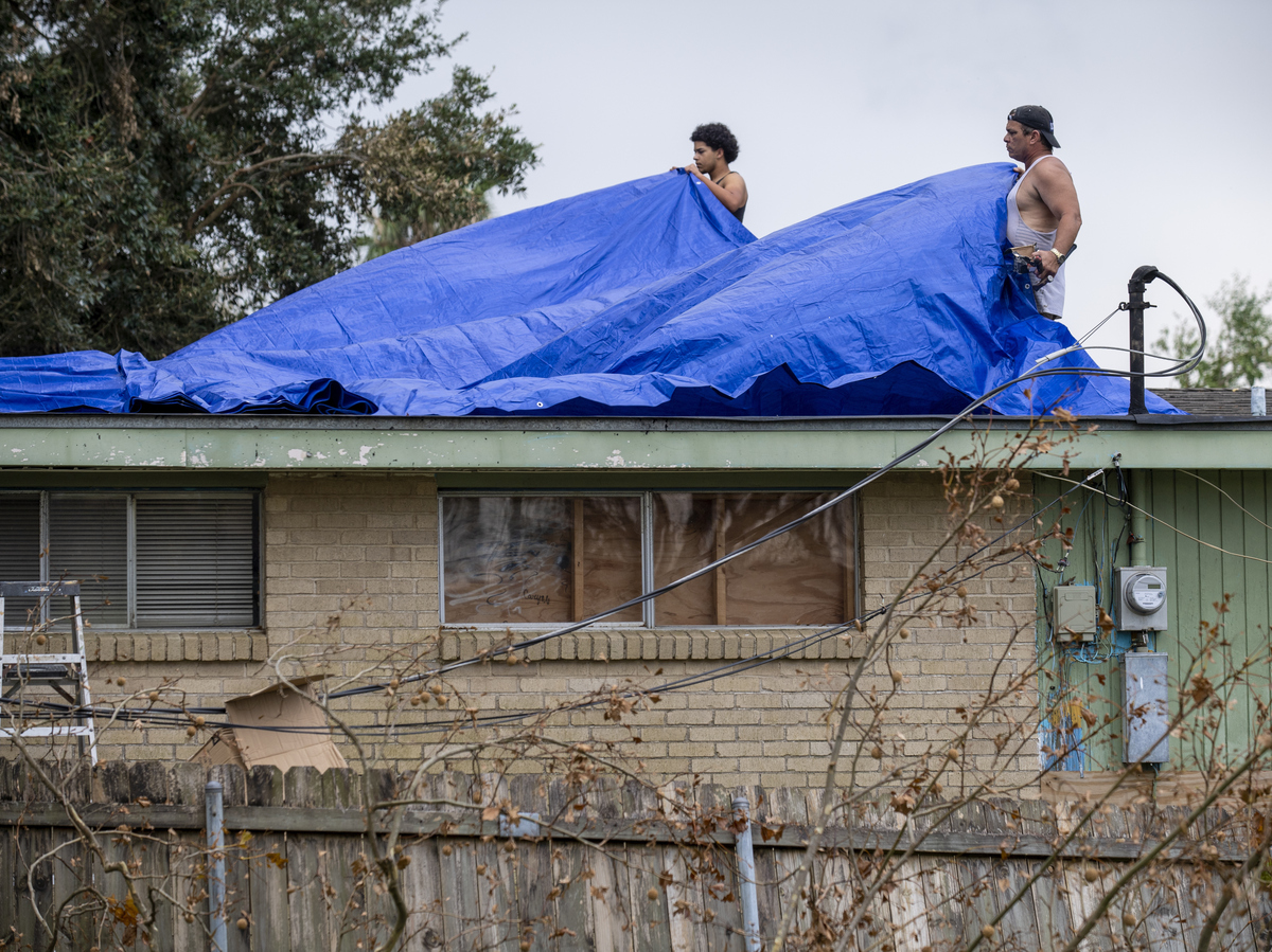Storm Crawls in Louisiana Texas: NPR
