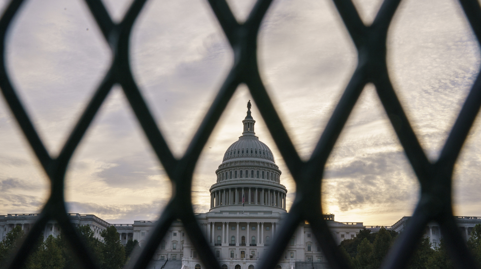 Security fencing was reinstalled around the U.S. Capitol Wednesday night ahead of a planned Sept. 18 rally by far-right supporters of former President Donald Trump. They are demanding the release of rioters arrested after the Jan. 6 attack.