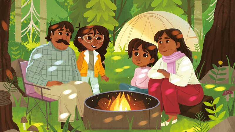 Fatima's Great Outdoors, written by Ambreen Tariq and illustrated by Stevie Lewis