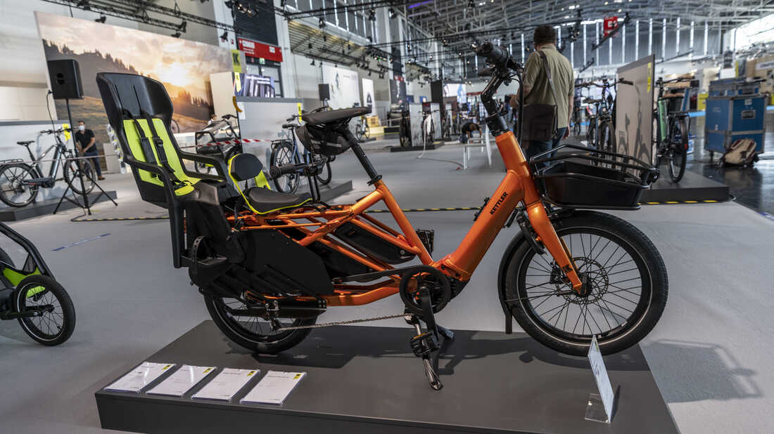 A Kettler Family E-bike at the 2021 Munich Motor Show IAA Mobility on September 07, 2021.