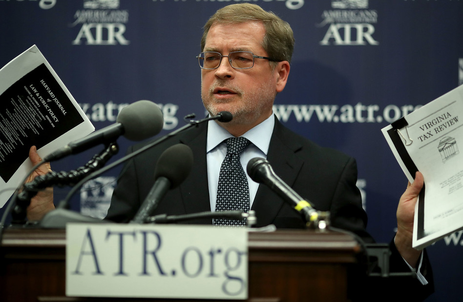 Career anti-tax advocate Grover Norquist, here in 2018, called the Trump administration's 2017 tax cut
