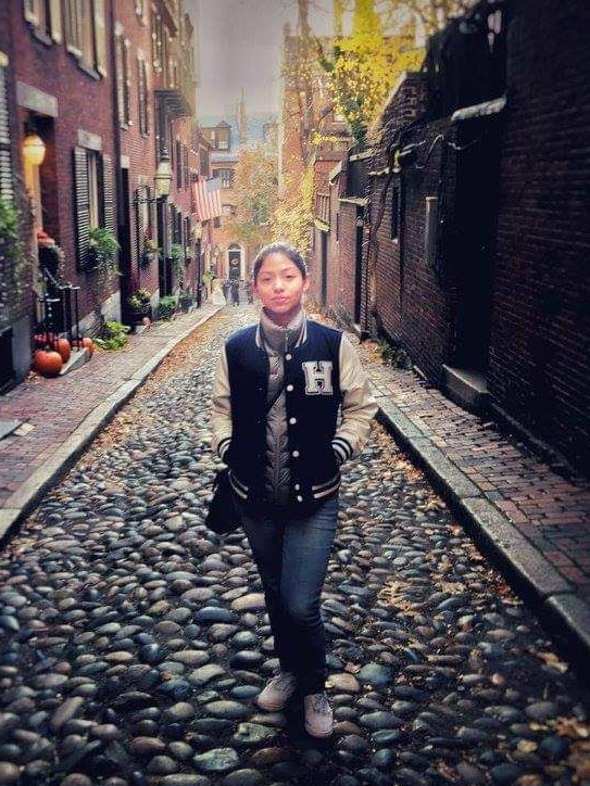 Isis Mabel in Boston in 2016, soon after she came to the U.S. to work with a family as an au pair. Mabel got basic health coverage through her au pair agency, but didn't realize she could buy much more comprehensive health insurance, with subsidized premiums, on the Affordable Care Act marketplace.