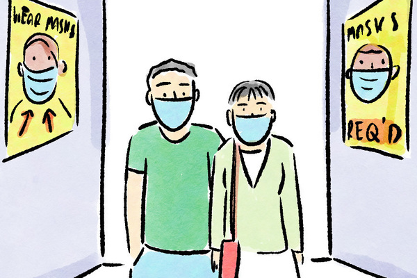 People who wear masks do so to protect themselves — and others as well. But in a world where mask-wearing has been politicized, they may face questions from strangers about why they're masking up.