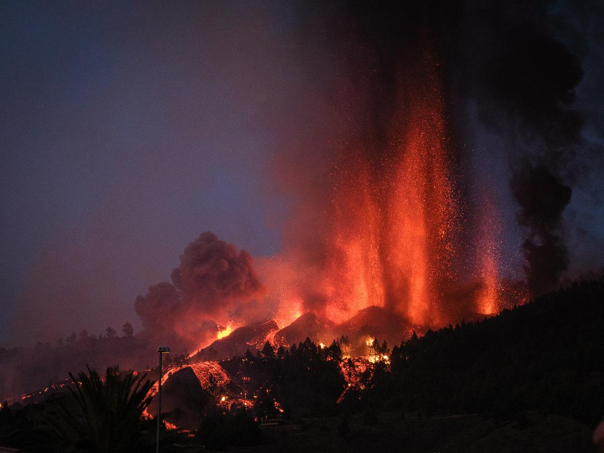 Spitting volcano shouldn't put off visitors to La Palma, says Spain's tourism minister: NPR